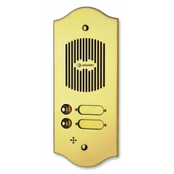 P103 Brass panel with three buttons