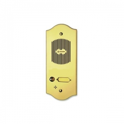 P101 Brass panel with one button